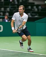 11-02-14, Netherlands,Rotterdam,Ahoy, ABNAMROWTT,  JulienBenneteau (FRA)<br /> Photo:Tennisimages/Henk Koster
