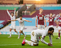 9th January 2021; Turf Moor, Burnley, Lanchashire, England; English FA Cup Football, Burnley versus Milton Keynes Dons; Cameron Jerome of MK Dons makes it 1-0 in min 29 with a diving header