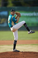 Mooresville Spinners starting pitcher Maddux Holshouser (24) (UNC Greensboro) in action against the Lake Norman Copperheads at Moor Park on July 6, 2020 in Mooresville, NC.  The Spinners defeated the Copperheads 3-2. (Brian Westerholt/Four Seam Images)