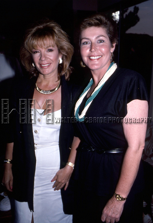 Vicki Carr and Helen Reddy attend a Private Party Hosted by Dale Olsen on August 25, 1988 at the Home of Dale Olsen in Los Angeles, California.