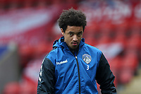 Cameron Borthwick-Jackson of Oldham Athletic during Leyton Orient vs Oldham Athletic, Sky Bet EFL League 2 Football at The Breyer Group Stadium on 27th March 2021