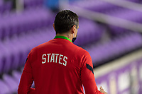 ORLANDO, FL - JANUARY 22: Head coach Vlatko Andonovski enters the field prior to a game between Colombia and USWNT at Exploria stadium on January 22, 2021 in Orlando, Florida.