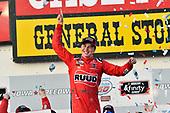 #20: Christopher Bell, Joe Gibbs Racing, Toyota Camry Ruud celebrates his win in Victory Lane
