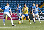 Kilmarnock v St Johnstone……15.08.20   Rugby Park  SPFL<br />Michael O'Halloran gets between Kirk Broadfoot and Alan Power<br />Picture by Graeme Hart.<br />Copyright Perthshire Picture Agency<br />Tel: 01738 623350  Mobile: 07990 594431