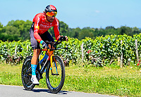 17th July 2021, St Emilian, Bordeaux, France;  HALLER Marco (AUT) of BAHRAIN VICTORIOUS during stage 20 of the 108th edition of the 2021 Tour de France cycling race, an individual time trial stage of 30,8 kms between Libourne and Saint-Emilion.