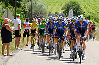 July 9th 2021. Carcassonne, Languedoc, France;  riders of Team DECEUNINCK - QUICK - STEP  during stage 13 of the 108th edition of the 2021 Tour de France cycling race, a stage of 219,9 kms between Nimes and Carcassonne.