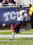 Virginia Cavaliers punter Alec Vozenilek(30) in action during the game between the Virginia Cavaliers and the TCU Horned Frogs  at the Amon G. Carter Stadium in Fort Worth, Texas. TCU defeats Virginia 27 to 7...