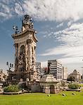 Plaça d'Espanya (Plaza de Espana), Barcelona, Spain.<br /> <br /> WARNING: Image Protected with PIXSY