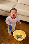 16 month old toddler boy vrying with frustration tantrum vertical Asian American Chinese American