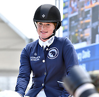 MIAMI BEACH, FL - APRIL 15: Jennifer Gates at the Longines Global Champions Tour stop in Miami Beach - Global Champions League Final - Class 13: Miami Beach 2017 CSI5* 1.55/1.60m. The winner was Kent Farrington (USA), second place was Martin Fuchs (CH)  and third place was Lauren Hough (USA). Also riding but did not make the finals was Georgina Bloomberg, Jessica Rae Springsteen and Jennifer Gates on April 15, 2017 in Miami Beach, Florida.<br /> <br /> People:  Jennifer Gates