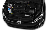 Car stock 2017 Volkswagen Golf R 5 Door Hatchback engine high angle detail view