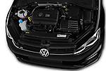 Car stock 2017 Volkswagen Golf R 5 Door Hatchback engine high angle detail view