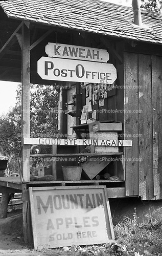 0302-002. Kaweah Post Office, North Fork Drive, Three Rivers, California. Built in 1910.