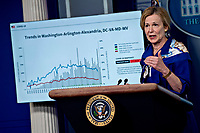 Ambassador Deborah L. Birx, M.D., White House Coronavirus Response Coordinator, speaks during a news conference in the Brady Press Briefing Room of the White House in Washington, D.C., U.S., on Friday, May 22, 2020. United States President Donald J. Trump did not wear a face mask during most of his tour of Ford Motor Co.'s ventilator facility Thursday, defying the automaker's policies and seeking to portray an image of normalcy even as American coronavirus deaths approach 100,000. <br /> Credit: Andrew Harrer / Pool via CNP/AdMedia
