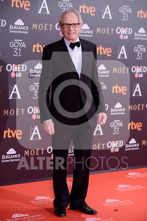 Ken Loach attends to the Red Carpet of the Goya Awards 2017 at Madrid Marriott Auditorium Hotel in Madrid, Spain. February 04, 2017. (ALTERPHOTOS/BorjaB.Hojas)