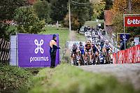 Group with Amy Pieters (NED/Boels-Dolmans), Elisa Longo Borghini (ITA/Trek-Segafredo), Lisa Brennauer (GER/Ceratizit-WNT Pro Cycling), Anna van der Breggen (NED/Boels-Dolmans), .. chasing race leader Chantal Van den Broek - Blaak (NED/Boels-Dolmans) on the Paterberg. <br /> <br /> 17th Ronde van Vlaanderen 2020<br /> Elite Womens Race (1.WWT)<br /> <br /> One Day Race from Oudenaarde to Oudenaarde 136km<br /> <br /> ©kramon