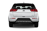 Straight rear view of 2018 KIA Niro FE 5 Door Hatchback Rear View  stock images