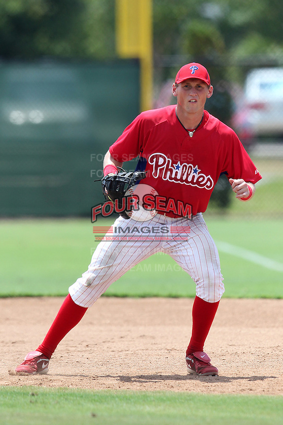 GCL Phillies Matthew Holland #22 during a game against the GCL Braves at the Carpenter Complex on June 22, 2011 in Clearwater, Florida.  The Braves defeated the Phillies 8-6.  (Mike Janes/Four Seam Images)