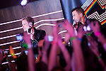 """Brian Littrell and Howie Dorough of the Backstreet Boys attend a fan meeting performance concert during their new music album """"In A World Like This"""" presentation at 40 Principales Cafe on November 12, 2013 in Madrid, Spain. (ALTERPHOTOS/Victor Blanco)"""