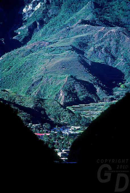 View towards Bontoc Mountain Province Philippines