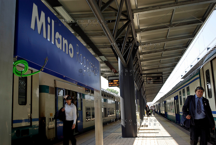 milano, quartiere rogoredo - santa giulia, periferia sud-est. la stazione ferroviaria --- milan, rogoredo - santa giulia district, south-east periphery. the railway station