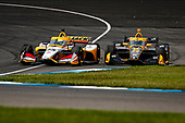 #15: Graham Rahal, Rahal Letterman Lanigan Racing Honda and #26: Zach Veach, Andretti Autosport Honda