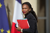 French Sports Minister Laura Flessel ; arrives to the Elysee presidential palace for the weekly cabinet meeting on Wednesday, 28 June 2017 in Paris # CONSEIL DES MINISTRES DU 28/06/2017