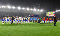 ORLANDO, FL - NOVEMBER 15: USMNT and Canada starting lineup's during a game between Canada and USMNT at Exploria Stadium on November 15, 2019 in Orlando, Florida.