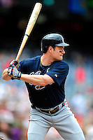 5 July 2009: Atlanta Braves' left fielder Matt Diaz in action against the Washington Nationals at Nationals Park in Washington, DC. The Nationals defeated the Braves 5-3, to take the rubber game of their 3-game weekend series. Mandatory Credit: Ed Wolfstein Photo