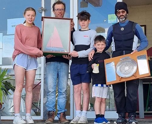 Overall winners Thomas & Ben Chaix (right) of Tralee Bay and Under 19 winners Jessica & Mark Greer of Sligo Yacht Club (left)