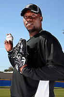 March 1, 2010:  Pitcher Merkin Valdez (30) of the Toronto Blue Jays poses for a photo during media day at Englebert Complex in Dunedin, FL.  Photo By Mike Janes/Four Seam Images
