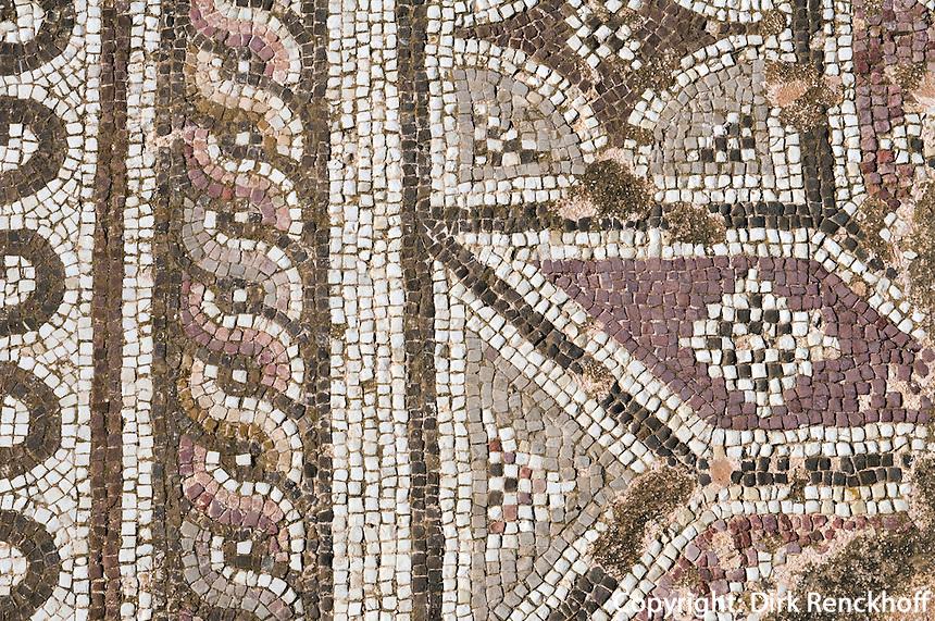 Zypern (Süd), Archäologischer Park in Kato Pafos, Boden-Mosaik im Haus des Theseus, römische Periode, Unesco-Weltkulturerbe