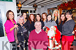 Dan Horan, seated, celebrated with his staff from Horans health foods, their Christmas party in Linnanes bar, Tralee last Saturday night, Dec 14, Back L-R Deirdre Murphy, Tess Breen, Clover Wharton, Noreen Irwin, Joan Ahern, Bina&Abina Lindane, Sandra Breen, Delia Galvin and Shelia McQuinn.