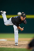 Akron RubberDucks relief pitcher Mitch Brown (26) delivers a pitch during a game against the Binghamton Rumble Ponies on May 12, 2017 at NYSEG Stadium in Binghamton, New York.  Akron defeated Binghamton 5-1.  (Mike Janes/Four Seam Images)