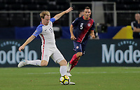 Arlington, TX - Saturday July 22, 2017: Dax McCarty during a 2017 Gold Cup Semifinal match between the men's national teams of the United States (USA) and Costa Rica (CRC) at AT&T stadium.