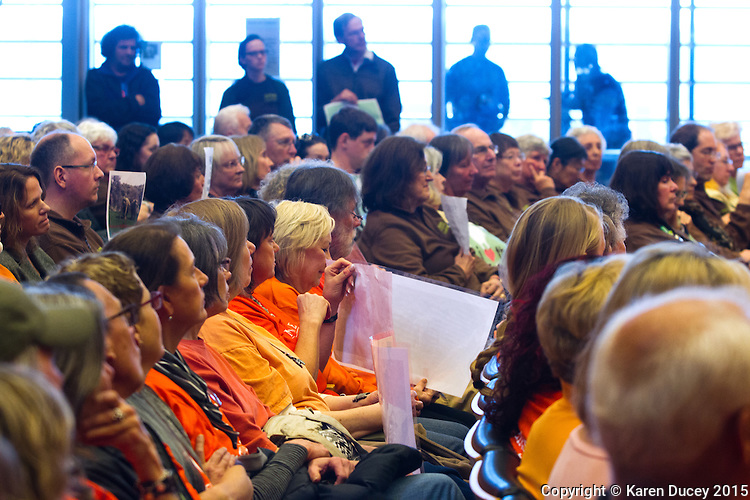 The Seattle City Council meeting was packed with   Afterwards, supporters of the zoo joined them to speak at a city council meeting during a 20 minute pubic comment period. (photo © Karen Ducey Photography)