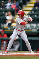 Palm Beach Cardinals outfielder Charlie Tilson (8) during a game against the Bradenton Marauders on April 8, 2014 at McKechnie Field in Bradenton, Florida.  Bradenton defeated Palm Beach 4-3.  (Mike Janes/Four Seam Images)