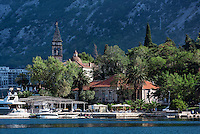 Waterfront church, Bay of Kotor, Montenegro