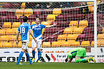 Motherwell v St Johnstone…18.03.17     SPFL    Fir Park<br />Tam Scobbie reacts as Scott McDonald's shot hits him and is deflected in<br />Picture by Graeme Hart.<br />Copyright Perthshire Picture Agency<br />Tel: 01738 623350  Mobile: 07990 594431
