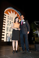 High school athlete of the year Ariel Hsing and Robert Braunstein at the San Jose Sports Hall of Fame induction ceremony at the HP Pavilion on Nov. 14, 2012.