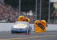 Sep 13, 2019; Mohnton, PA, USA; NHRA pro stock driver Matt Hartford during the Reading Nationals at Maple Grove Raceway. Mandatory Credit: Mark J. Rebilas-USA TODAY Sports