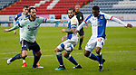 03.10.20 - Blackburn Rovers v Cardiff City - Sky Bet Championship - Sean Morrison of Cardiff is prevented from reaching the ball from a corner kick which is kicked away by Amari'i Bell of Blackburn Rovers
