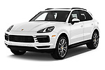 2020 Porsche Cayenne Base 5 Door SUV angular front stock photos of front three quarter view