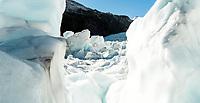 Beautiful Franz Josef Glacier, Westland Tai Poutini National Park, West Coast, UNESCO World Heritage Area, New Zealand, NZ