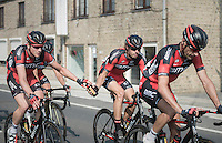 Stefan Küng (SUI/BMC) bringing water bottles up to the front to Daniel Oss (ITA/BMC)<br /> <br /> 12th Eneco Tour 2016 (UCI World Tour)<br /> stage 3: Blankenberge-Ardooie (182km)