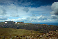 Cairn Gorm from the Munro summit of Bynack More, Cairngorm National Park, Badenoch & Speyside