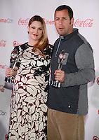 LAS VEGAS, NV - March 27: Female Star of the Year Award winner Drew Barrymore and Male Star of the Year Award winner Adam Sandler at the CinemaCon Big Screen Achievement Awards on March 27, 2014 in Las Vegas, Nevada. © Kabik/ Starlitepics