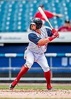 22 July 2018: Syracuse SkyChiefs infielder Bengie Gonzalez in action against the Louisville Bats at NBT Bank Stadium in Syracuse, NY. The Bats defeated the Chiefs 3-1 in AAA International League play. Mandatory Credit: Ed Wolfstein Photo *** RAW (NEF) Image File Available ***