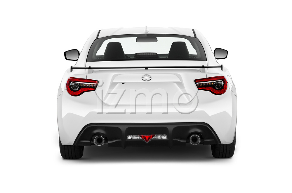 Straight rear view of 2018 Toyota 86 GT 2 Door Coupe Rear View  stock images