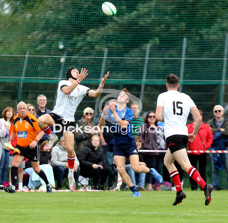 Saturday 5th September 2021<br /> <br /> Nathan Hook during U18 Clubs inter-pro between Ulster Rugby and Leinster at Newforge Country Club, Belfast, Northern Ireland. Photo by John Dickson/Dicksondigital